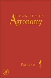 Advances in Agronomy, Volume 93 (Advances in Agronomy) (Advances in Agronomy) by Donald L. Sparks