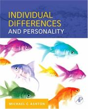 Cover of: Individual Differences and Personality | Michael C. Ashton