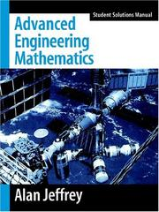 Cover of: Advanced Engineering Mathematics, Student Solutions Manual | Alan Jeffrey