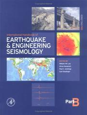 Cover of: International Handbook of Earthquake & Engineering Seismology, Part B (International Geophysics) |