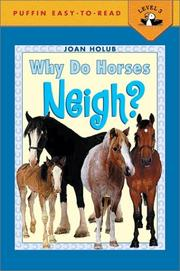 Cover of: Why Do Horses Neigh?