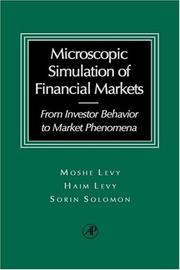 Cover of: The microscopic simulation of financial markets | Moshe Levy