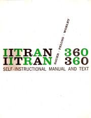 IITRAN/360; self-instructional manual and text