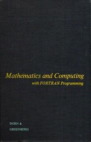 Mathematics and computing: with FORTRAN programming