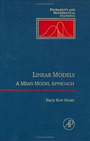 Cover of: Linear models