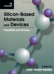 Cover of: Silicon-Based Materials and Devices, Vol. 2 | Hari Singh Nalwa