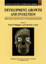 Cover of: Development, Growth and Evolution, Volume 20 |