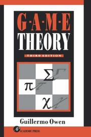Cover of: Game theory