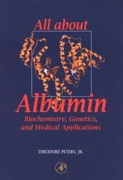 Cover of: All about albumin