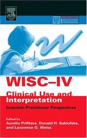Cover of: WISC-IV Clinical Use and Interpretation |