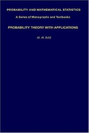 Cover of: Probability theory with applications