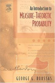 Cover of: An Introduction to Measure-theoretic Probability