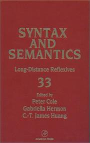 Cover of: Long-distance reflexives