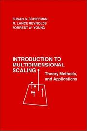 Cover of: Introduction to multidimensional scaling | Susan S. Schiffman