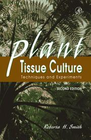 Cover of: Plant tissue culture | Roberta H. Smith