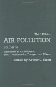 Cover of: Air Pollution, Volume 6