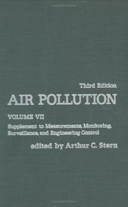 Cover of: Air Pollution, Volume 7