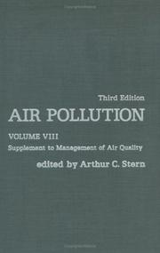 Cover of: Air Pollution, Volume 8