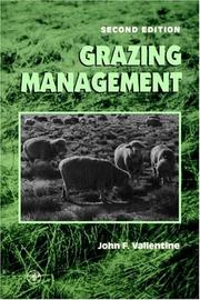 Cover of: Grazing Management, 2nd Edition | John F. Vallentine