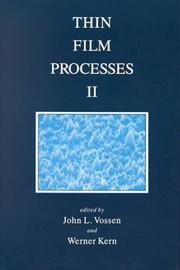 Cover of: Thin Film Processes, Volume 2 | Werner Kern