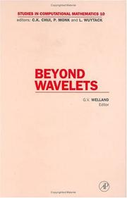 Cover of: Beyond Wavelets, Volume 10 (Studies in Computational Mathematics) | Grant V. Welland
