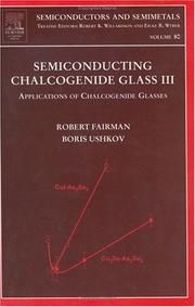 Cover of: Semiconducting Chalcogenide Glass III, Volume 80 |