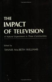 Cover of: The Impact of Television |