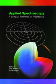 Cover of: Applied spectroscopy |