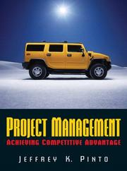 Cover of: Project Management: achieving competitive advantage