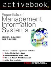 Cover of: Essentials of management information systems