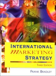 Cover of: International marketing strategy | Frank Bradley