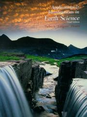 Cover of: Applications and Investigations in Earth Science