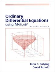 Cover of: Ordinary differential equations using MATLAB
