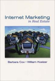 Cover of: Internet marketing in real estate | Cox, Barbara G.