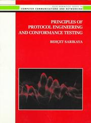 Cover of: Principles of Protocol Engineering and Conformance Testing