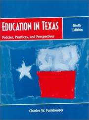Cover of: Education in Texas | Charles W. Funkhouser