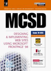 Cover of: MCSD | David Karlins
