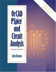 Cover of: OrCAD PSpice and Circuit Analysis (4th Edition) | John Keown