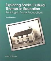 Cover of: Exploring socio-cultural themes in education