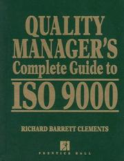 Cover of: Quality manager's complete guide to ISO 9000