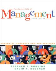 Cover of: Fundamentals of Management | Stephen P. Robbins