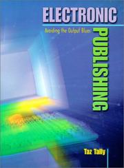Cover of: Electronic Publishing: Avoiding the Output Blues