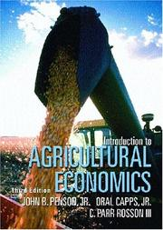 Cover of: Introduction to agricultural economics