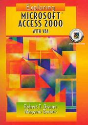Cover of: Exploring Microsoft Access 2000 Special VBA Edition