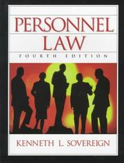 Cover of: Personnel law | Kenneth L. Sovereign