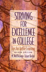 Cover of: Striving for Excellence in College | M. Neil Browne
