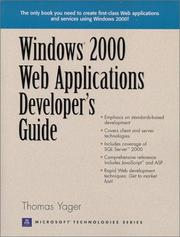 Cover of: Windows 2000 Web Applications Developer