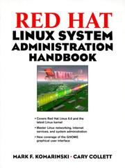 Cover of: Red Hat Linux administration handbook
