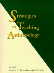 Cover of: Strategies in teaching anthropology