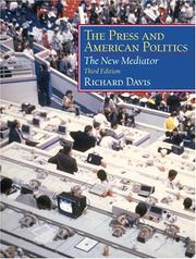 Cover of: The press and American politics